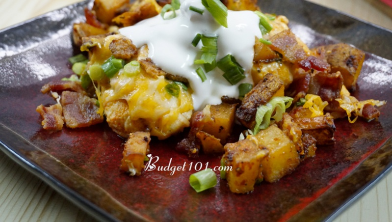 loaded-potato-buffalo-chicken-hot-dish