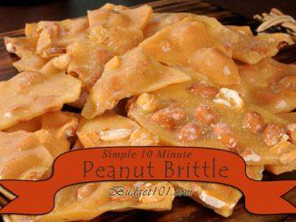 10 Minute Microwave Peanut Brittle