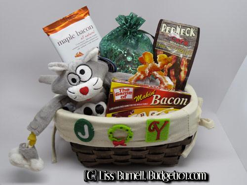 bacon-lovers-gift-basket & Bacon Lovers Gift Basket | Homemade Gift Basket Ideas | Themed Gift ...