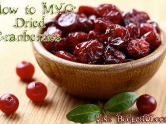 dehydrating cranberries