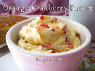 holiday cranberry butter