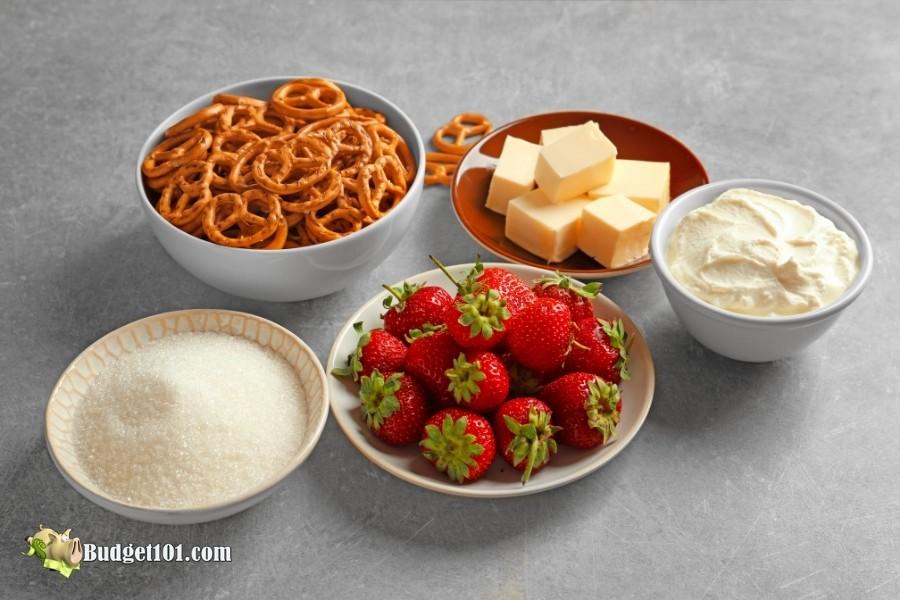 strawberry pretzel salad ingredients