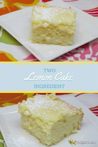 2 ingredient lemon bars or cake 2 recipes