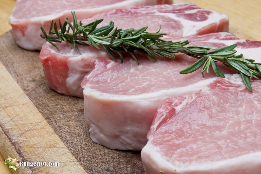 b101 raw pork chops