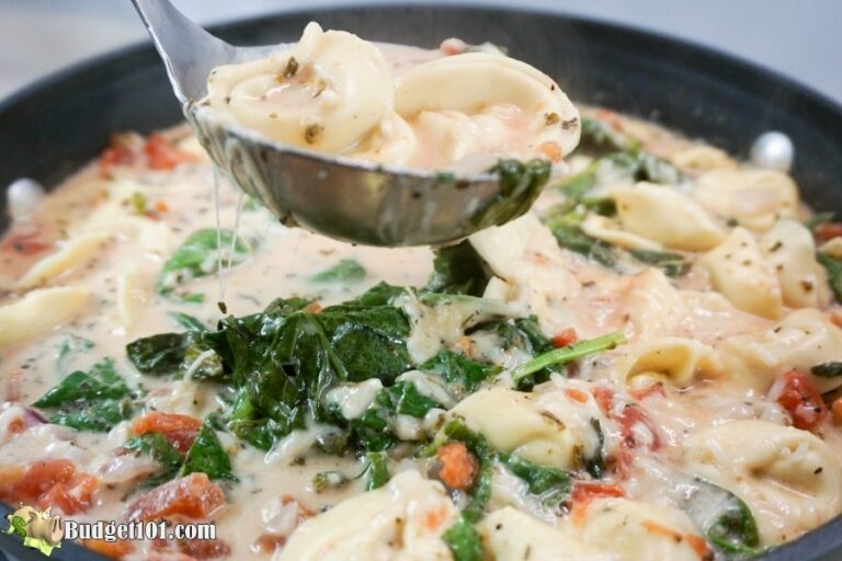 creamy tortellini garlic soup