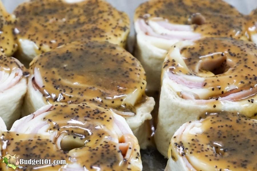 dijon swiss ham rolls raw ready to bake