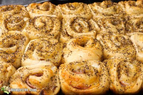 freshly baked dijon swiss ham rolls budget101
