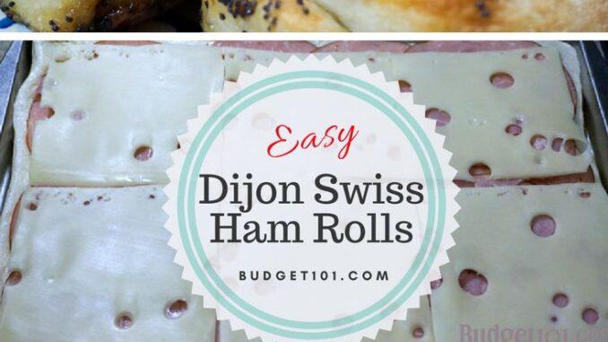 simple dijon swiss ham rolls