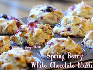 spring berry white chocolate muffins