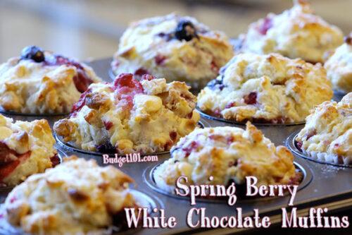 spring berry white chocolate muffins