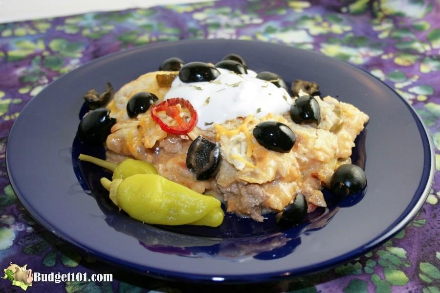 serving of mexicana enchilada casserole budget101