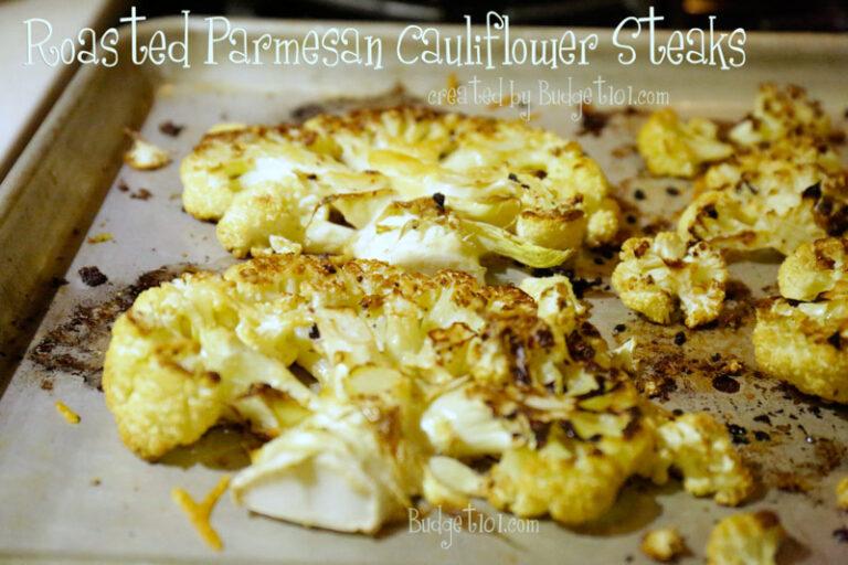 roasted parmesan cauliflower steaks