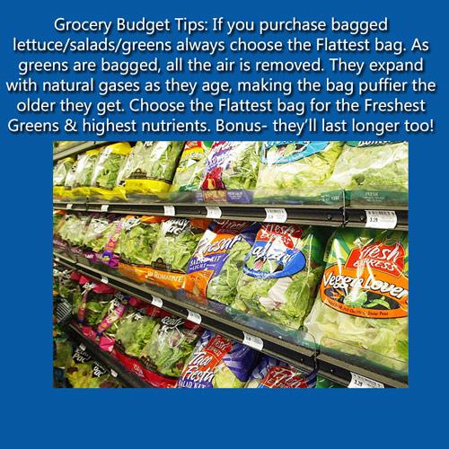 saving on bagged veggies