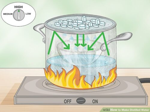 how to distill water at home
