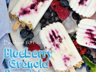 Blueberries & Cream Popsicles