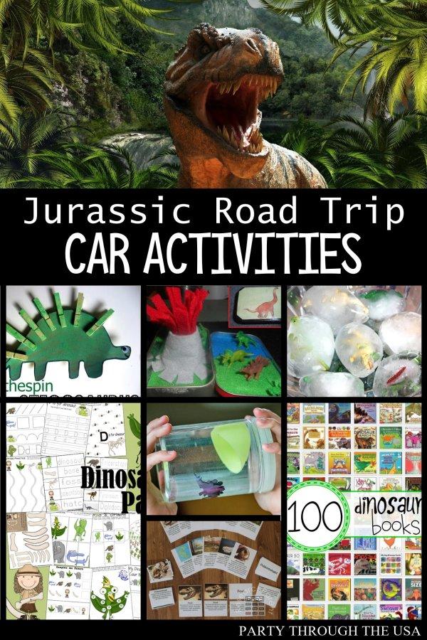 Jurassic Road Trip Car Activities