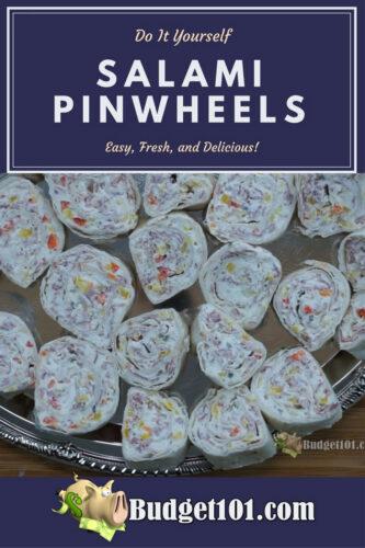 Savory salami pinwheels