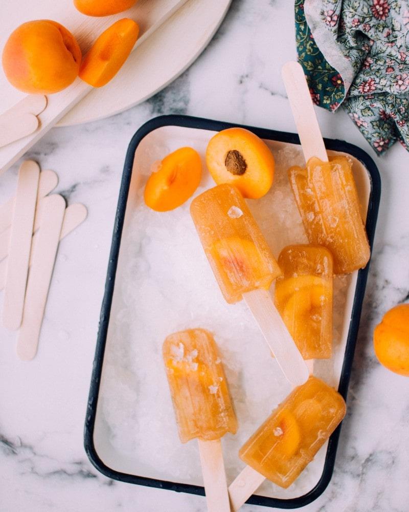 Bourbon Peach Popsicles