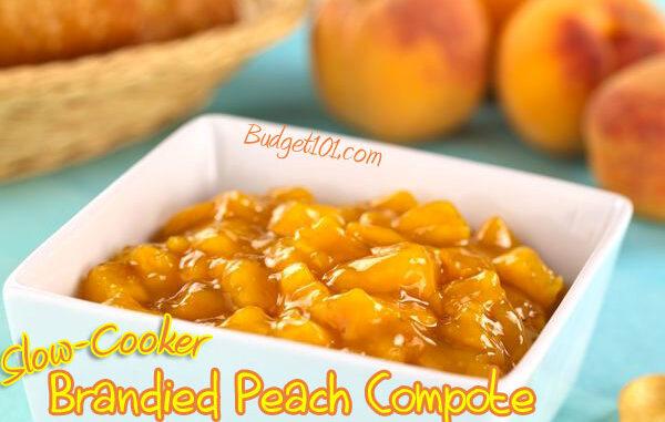 brandied peach compote