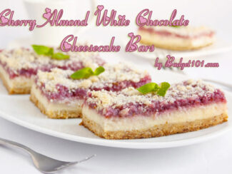 cherry almond white chocolate cheesecake bar mix