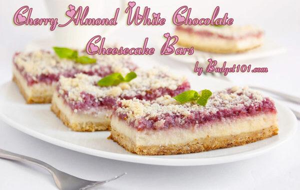 cherry almond white chocolate cheesecake bar mix