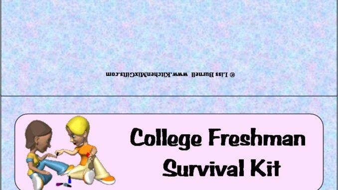 college freshmans survival kit