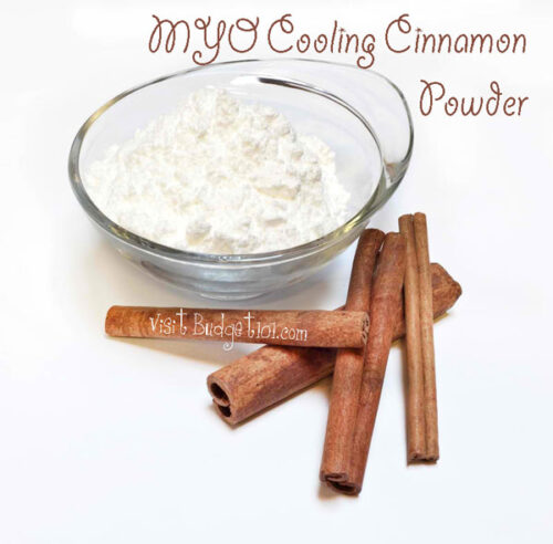 cooling cinnamon body powder