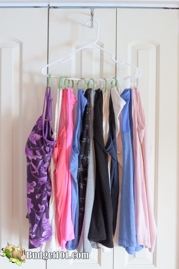 repurpose shower curtain hooks tanks bathing suits