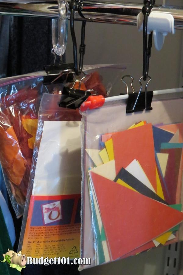 repurposing shower curtain hooks scrapbook supplies