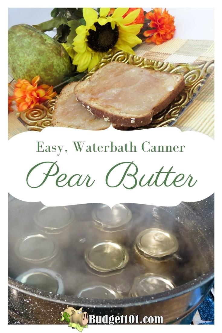 Homemade Pear Butter