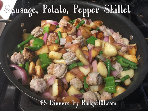 sausage-potato-pepper-skillet-dinner