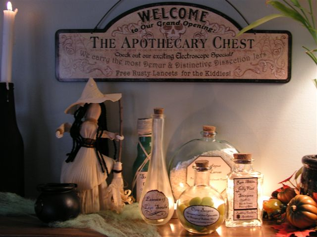Witches Apothecary Shop - Witch Bottles | Homemade Halloween Decor