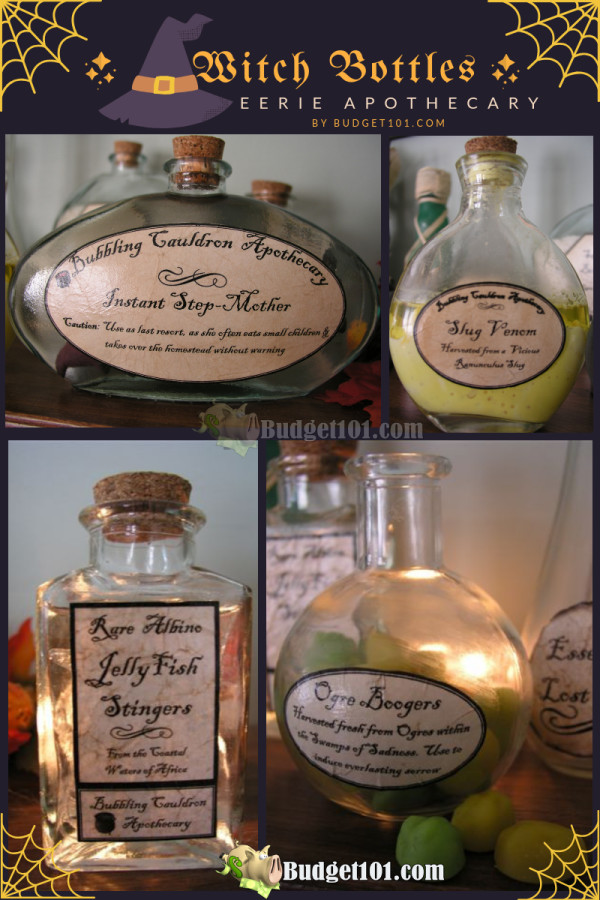 Witches Apothecary Bottles