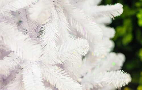 how to clean white xmas tree
