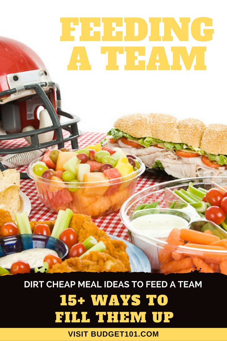 How to Feed a Football team, literally. #Budget101 #Team #Football #GameDay