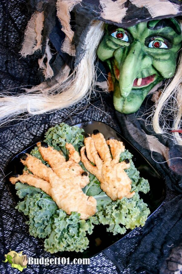Gnarled Witches Fingers Halloween Dinner Idea