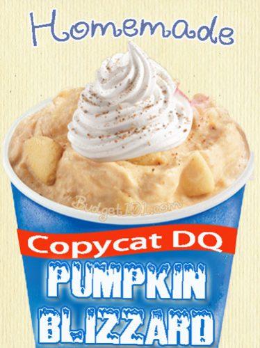 copycat dq pumpkin pie blizzard