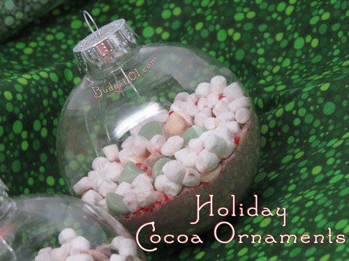 Holiday cocoa ornaments