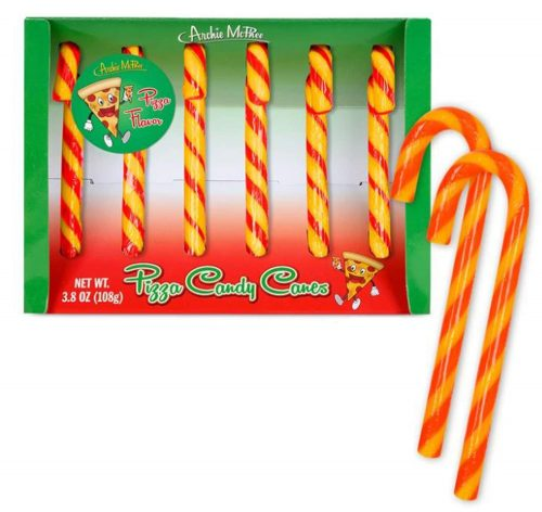 Pizza flavored Candy Canes