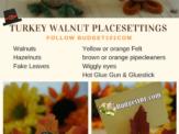 Thanksgiving Turkey Place Settings