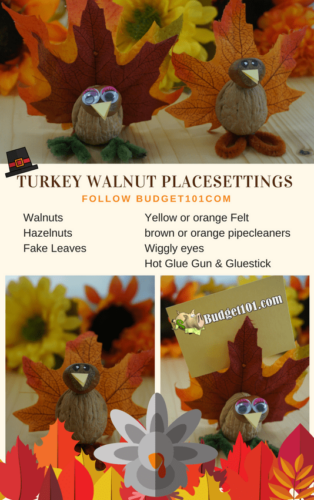 thanksgiving turkey placesettings