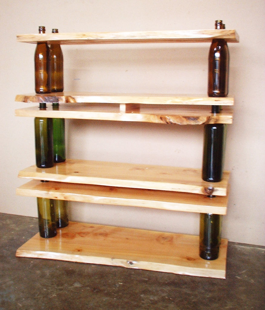 Diy Modular Shelving Using Repurposed Wine Bottles