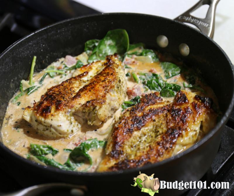 artichoke-spinach-skillet-chicken