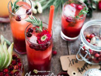 Cranberry Champagne Cosmo