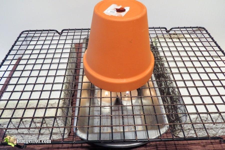 diy flower pot heater step 3