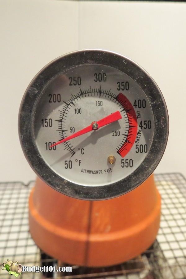 diy flower pot heater temp 3min