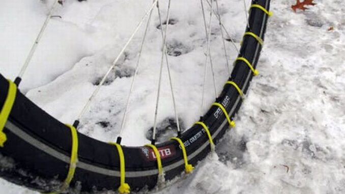 diy snow tires for bicycles