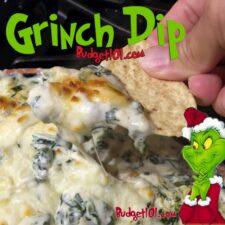 holiday grinch dip