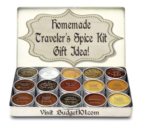 homemade spice sampler or easy travel set
