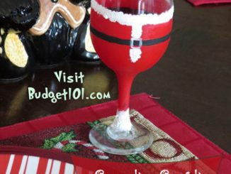 santa wine glass